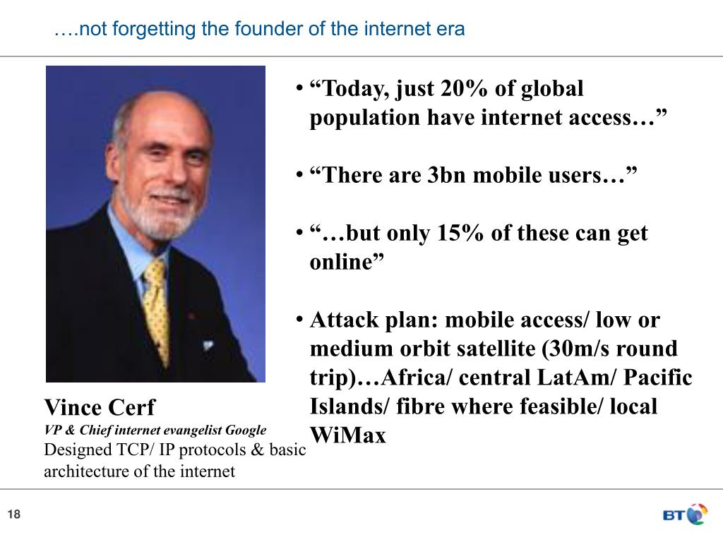 ….not forgetting the founder of the internet era
