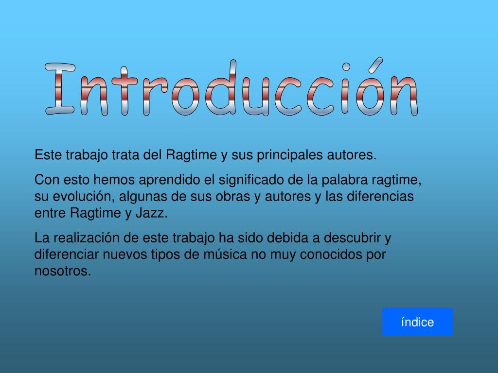 Ppt ragtime powerpoint presentation id 744707 for Origen y definicion de oficina