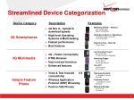 streamlined device categorization