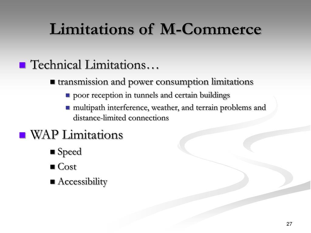 Limitations of M-Commerce
