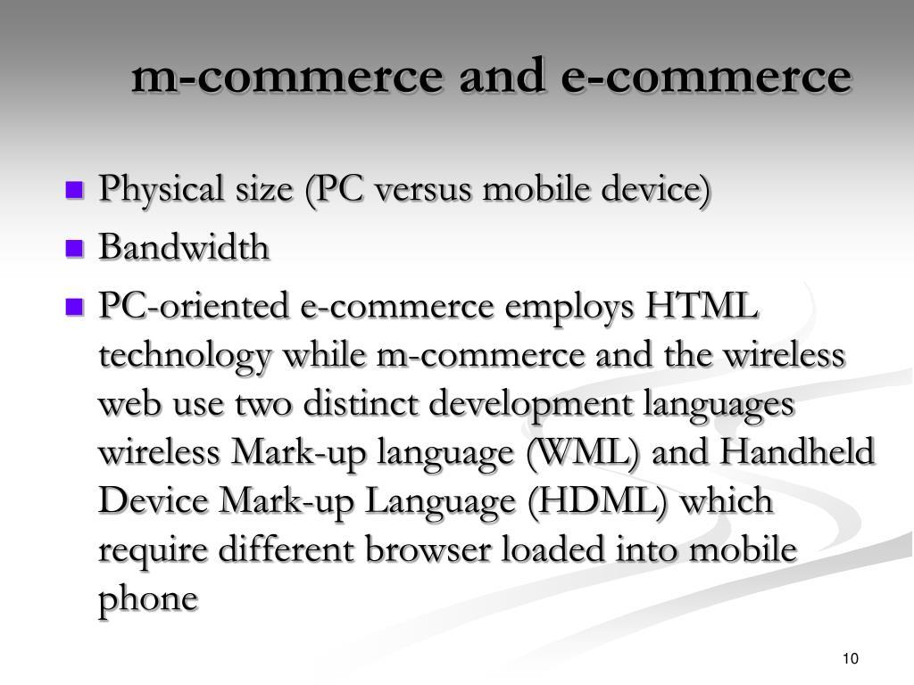 m-commerce and e-commerce