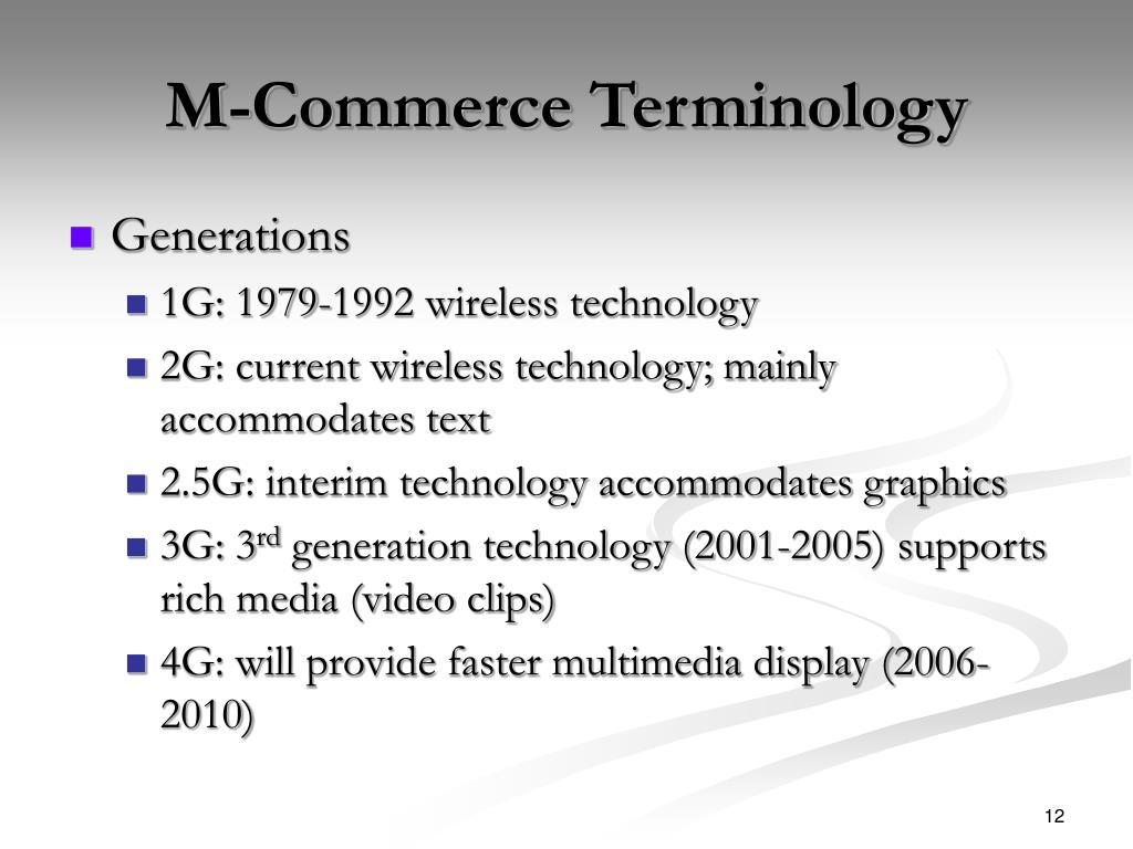 M-Commerce Terminology