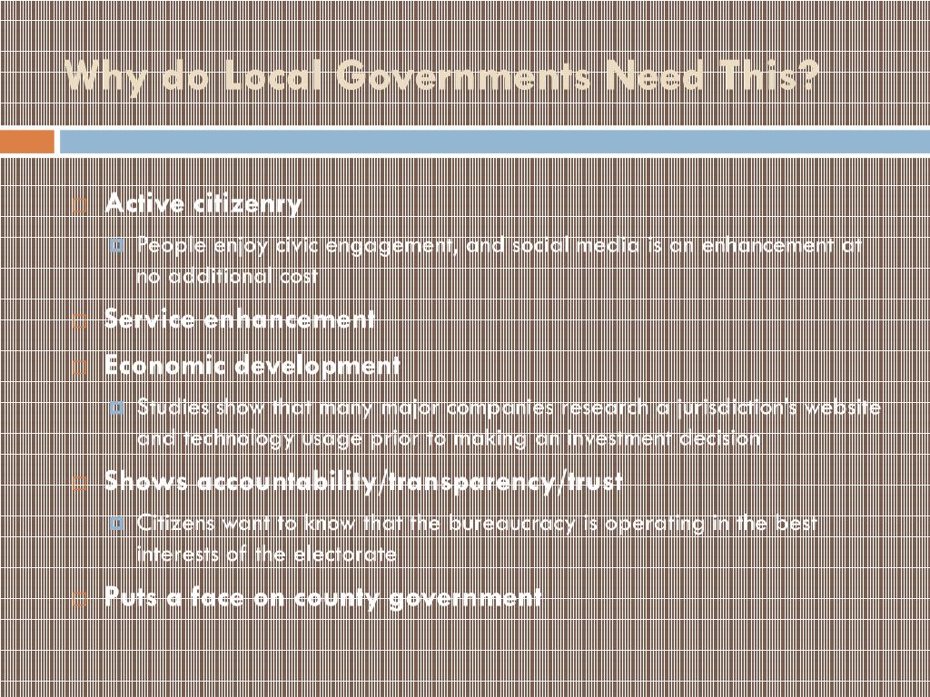 Why do Local Governments Need This?
