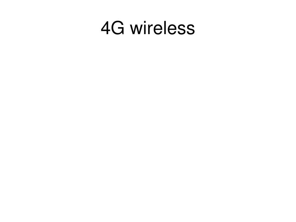 4G wireless