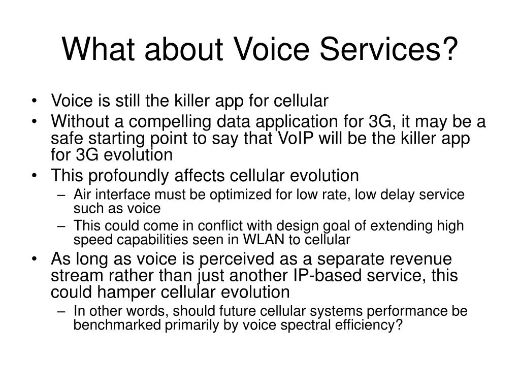 What about Voice Services?