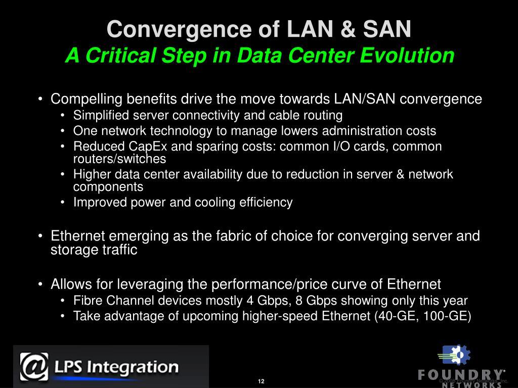 Convergence of LAN & SAN