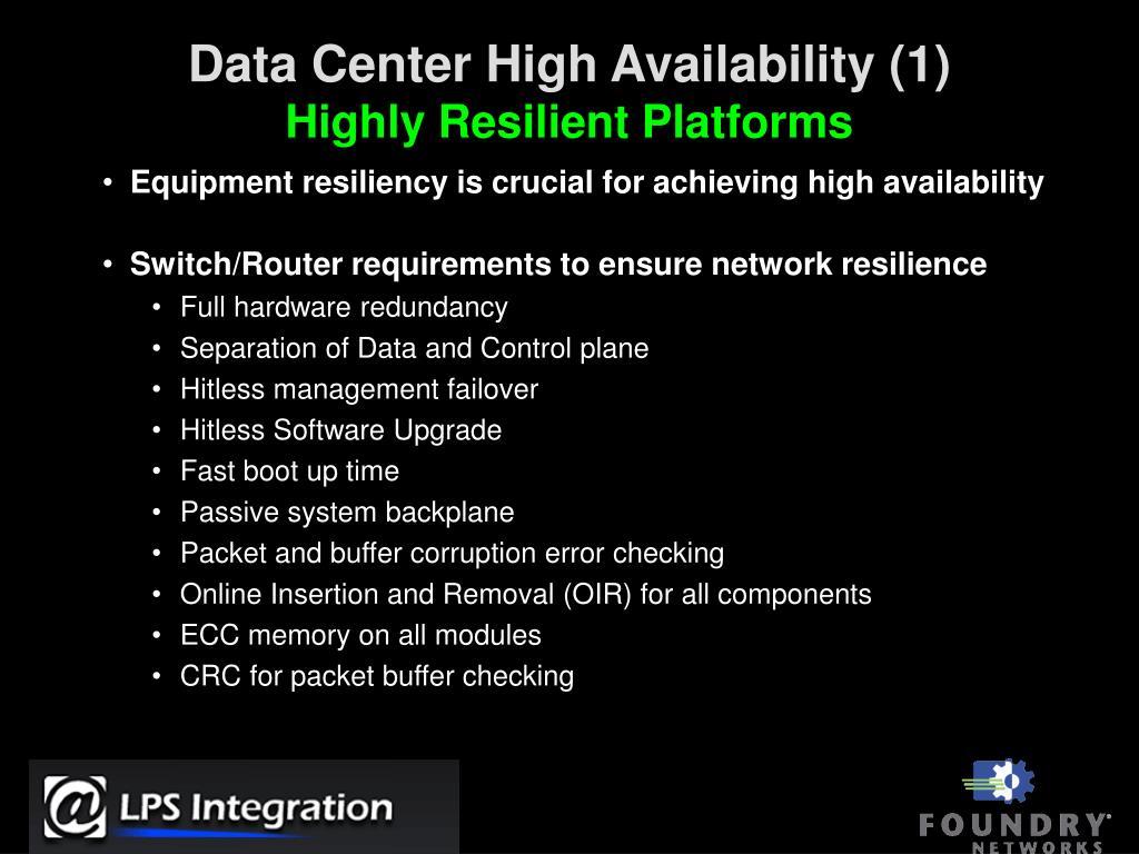 Data Center High Availability (1)