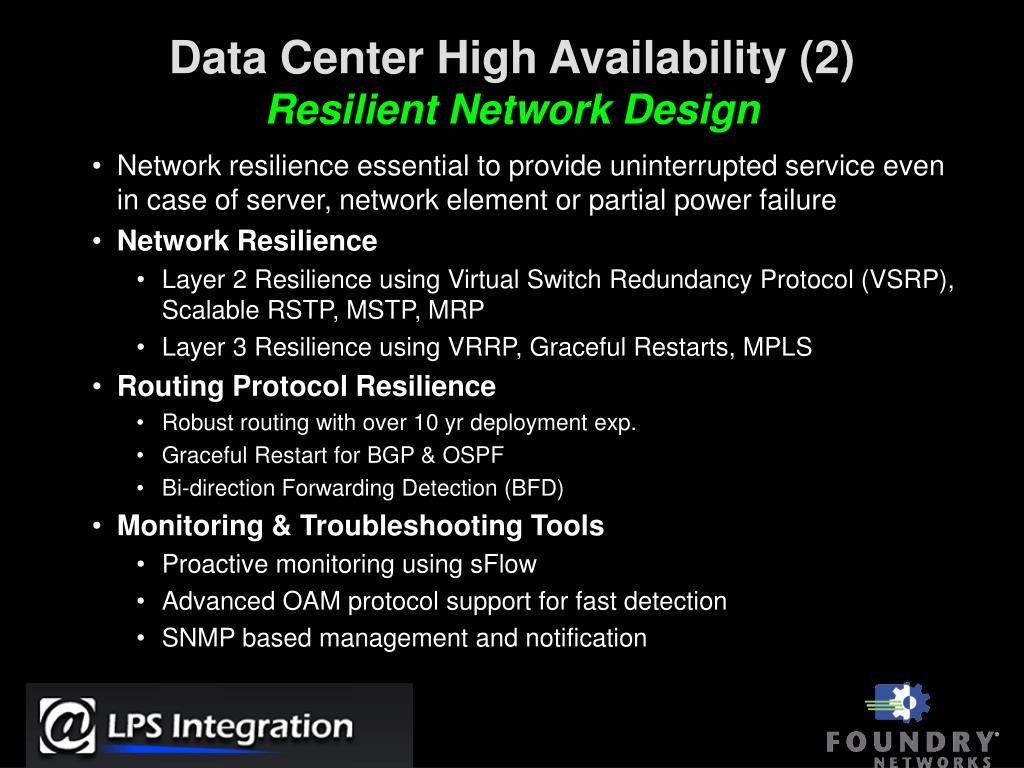 Data Center High Availability (2)