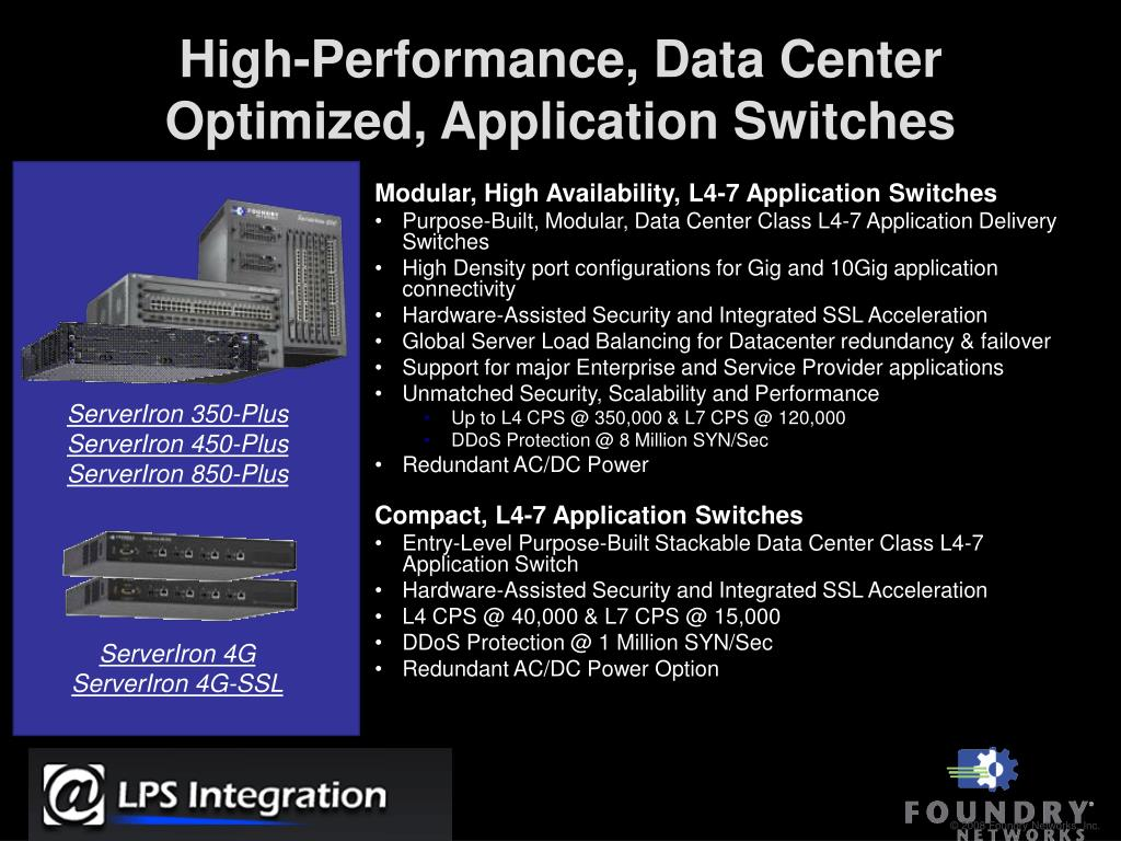 High-Performance, Data Center Optimized, Application Switches