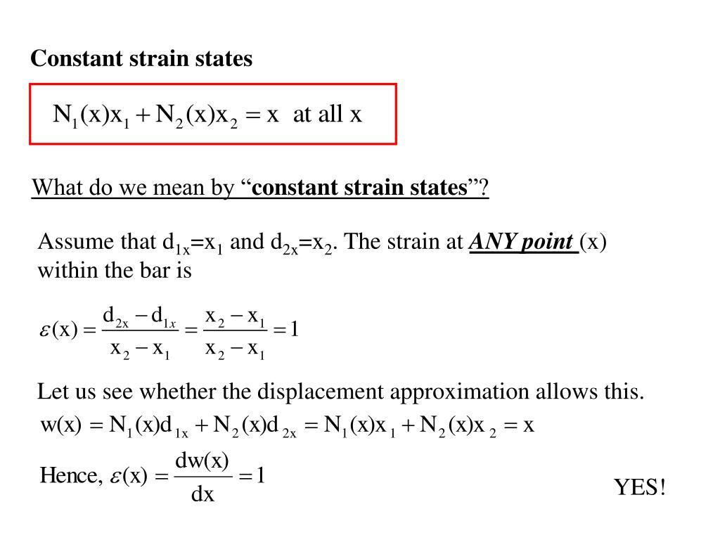 Constant strain states