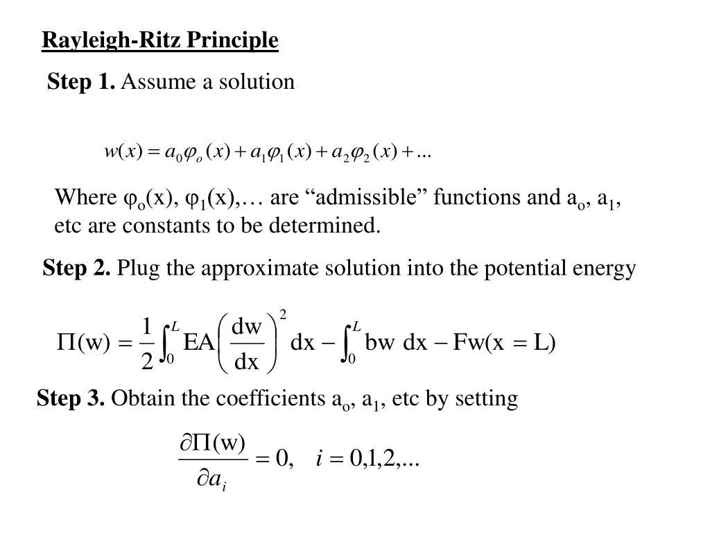 Rayleigh-Ritz Principle