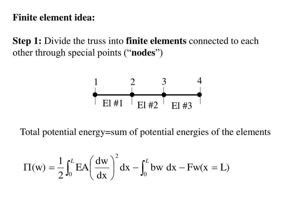 Finite element idea: