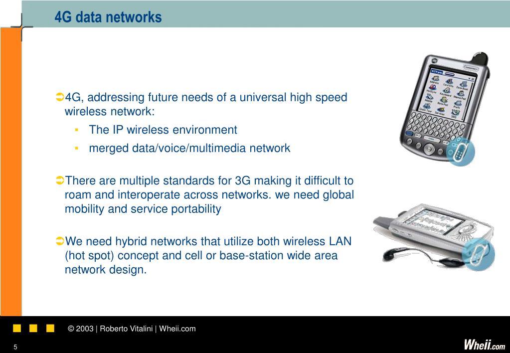 4G data networks