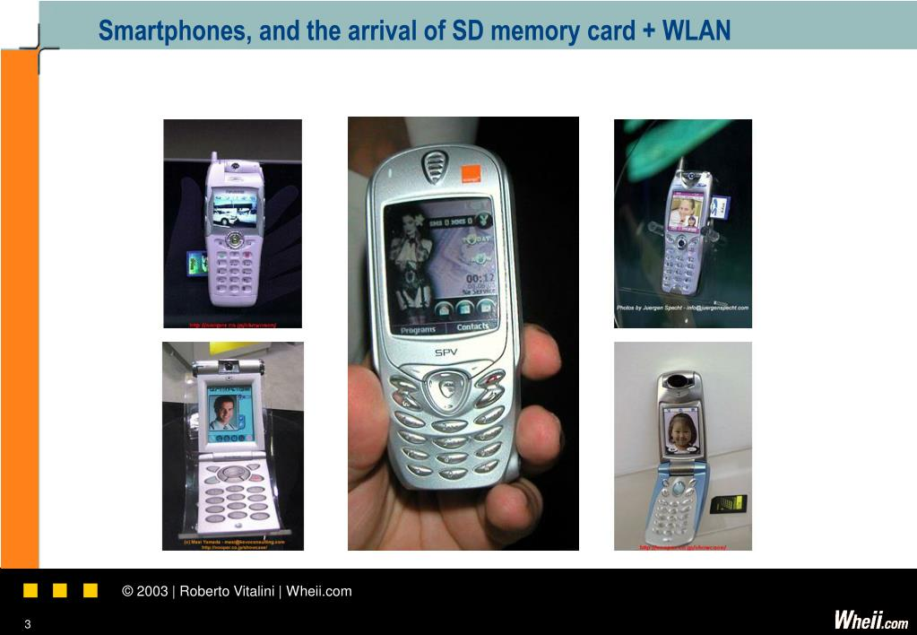 Smartphones, and the arrival of SD memory card + WLAN
