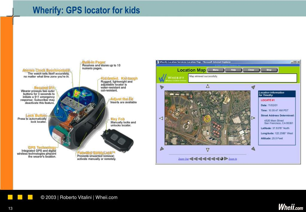 Wherify: GPS locator for kids