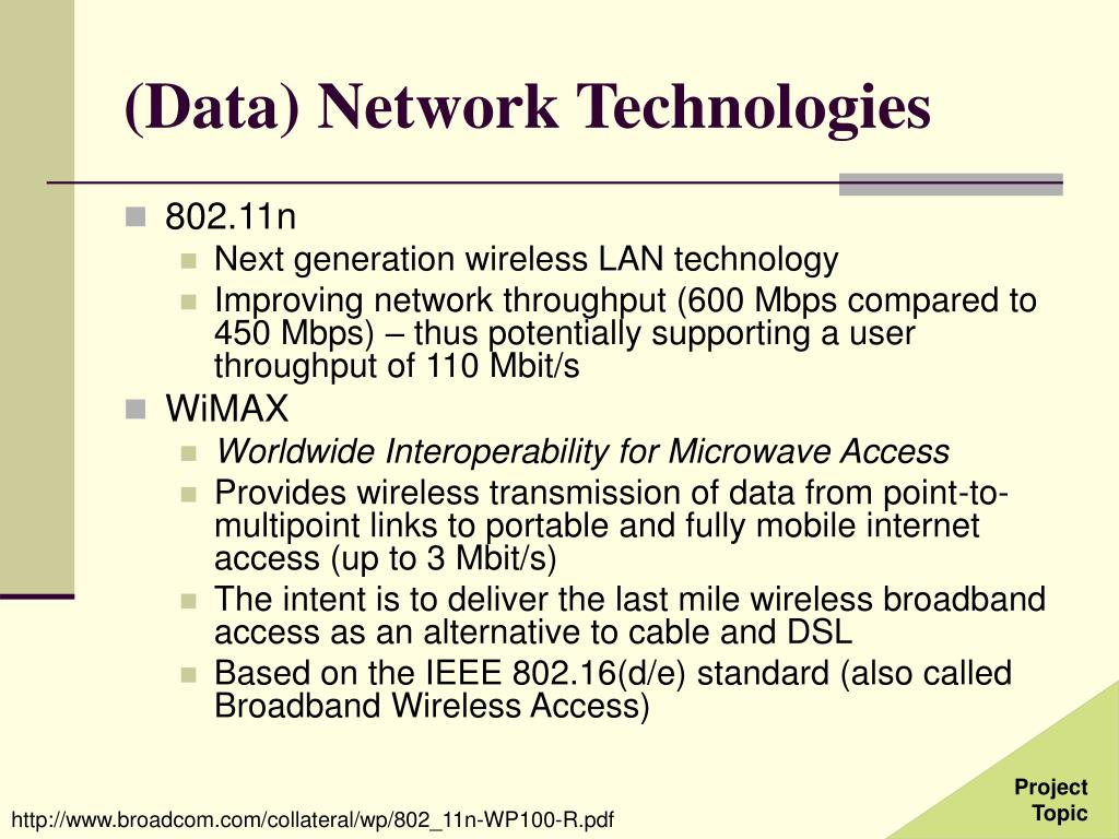 (Data) Network Technologies
