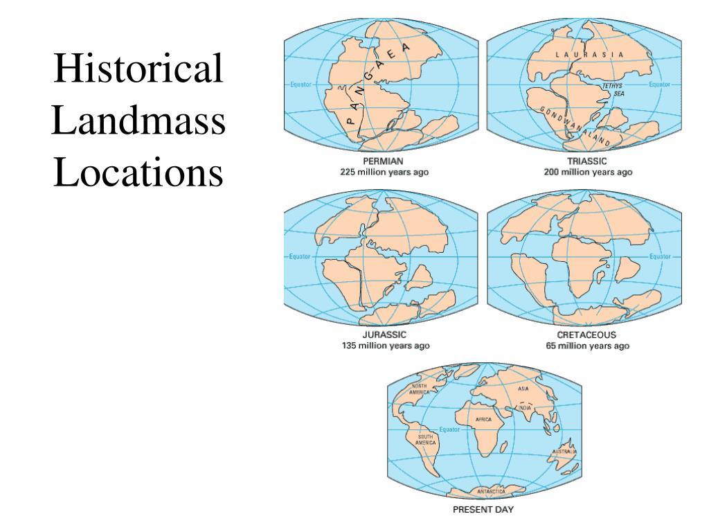 Historical Landmass Locations