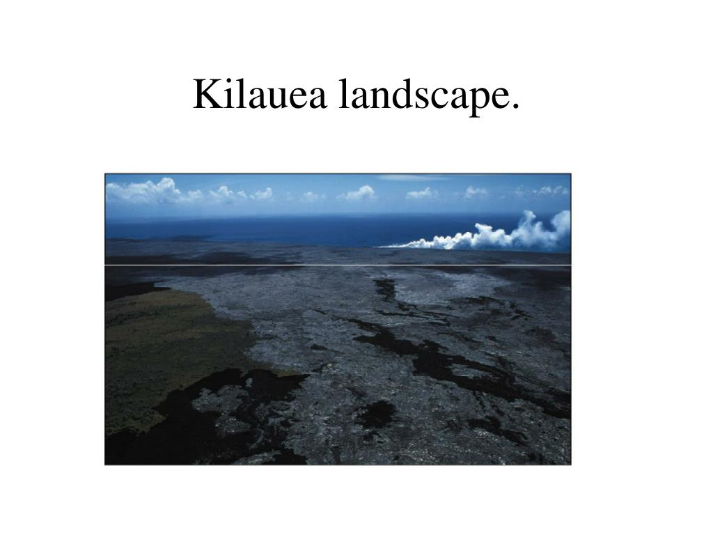 Kilauea landscape.