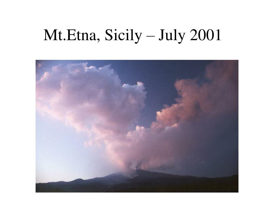 Mt.Etna, Sicily – July 2001