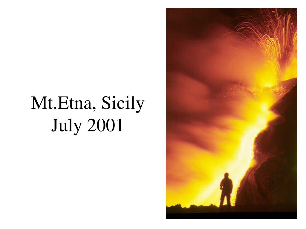 Mt.Etna, Sicily July 2001