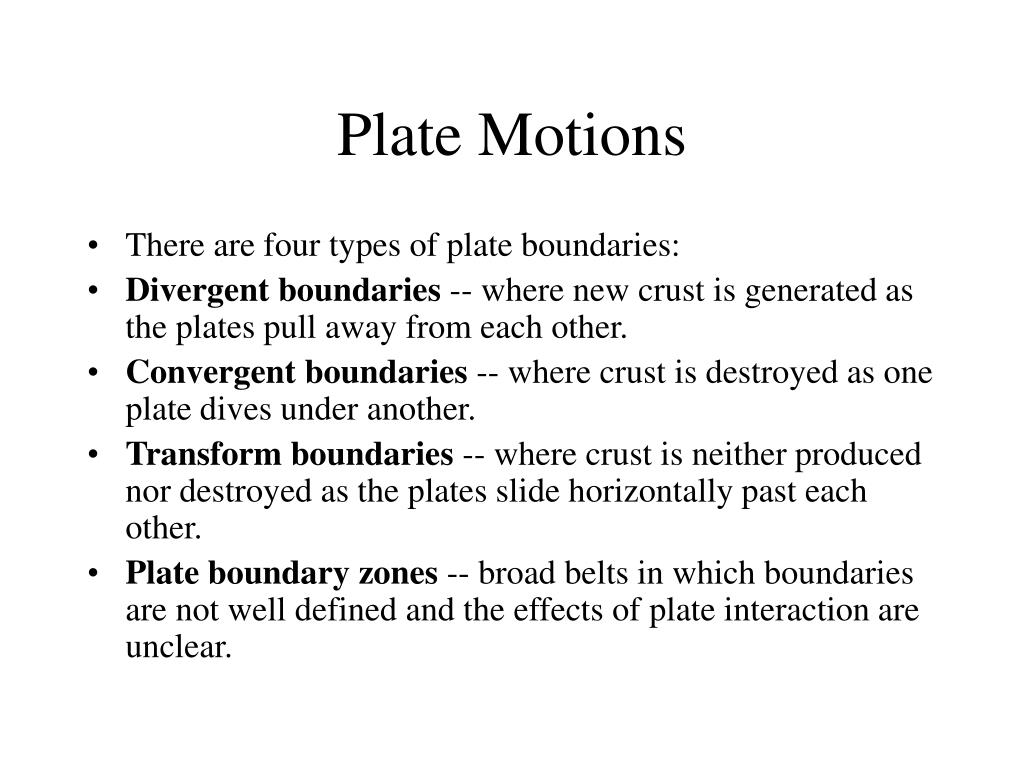 Plate Motions