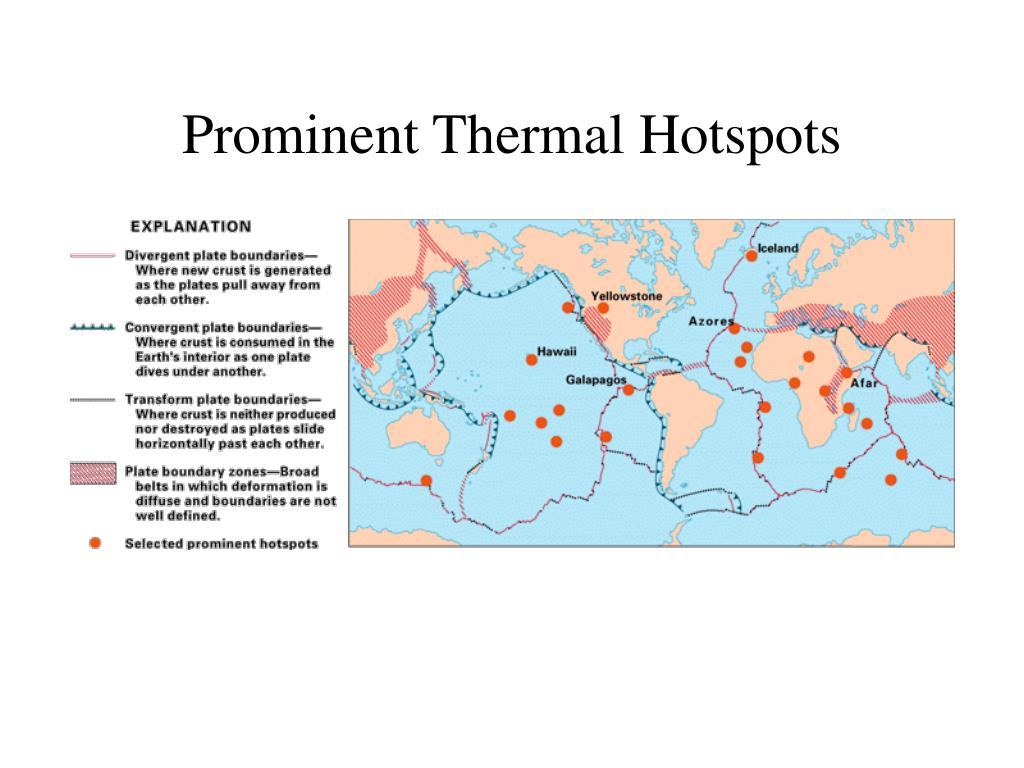 Prominent Thermal Hotspots