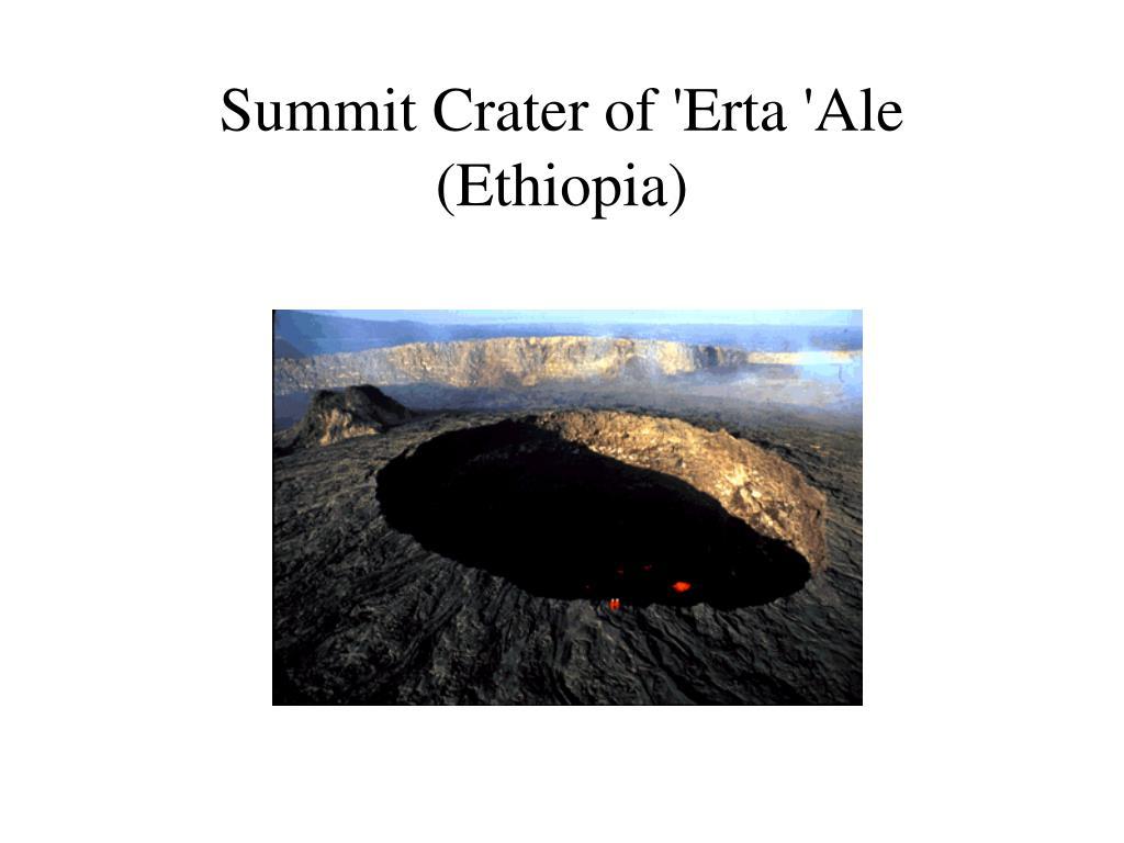Summit Crater of 'Erta 'Ale (Ethiopia)