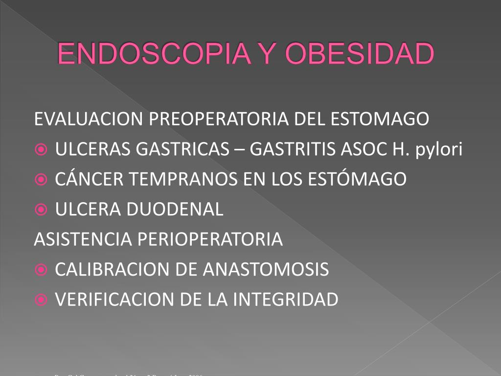 ENDOSCOPIA Y OBESIDAD