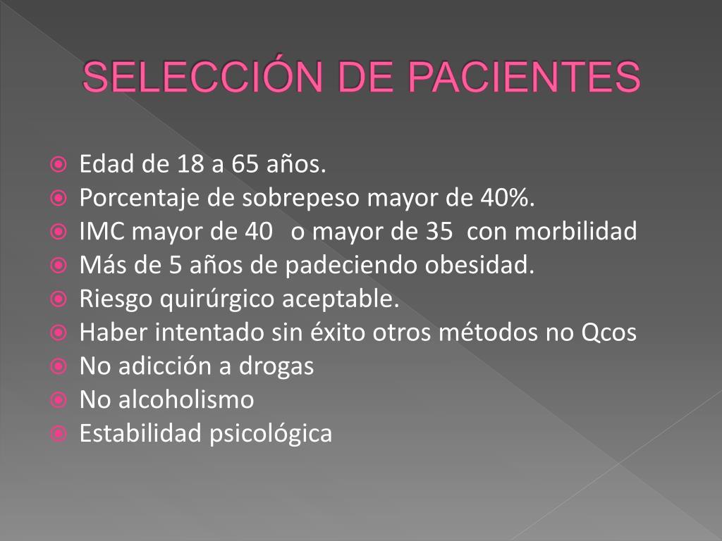 SELECCIÓN DE PACIENTES