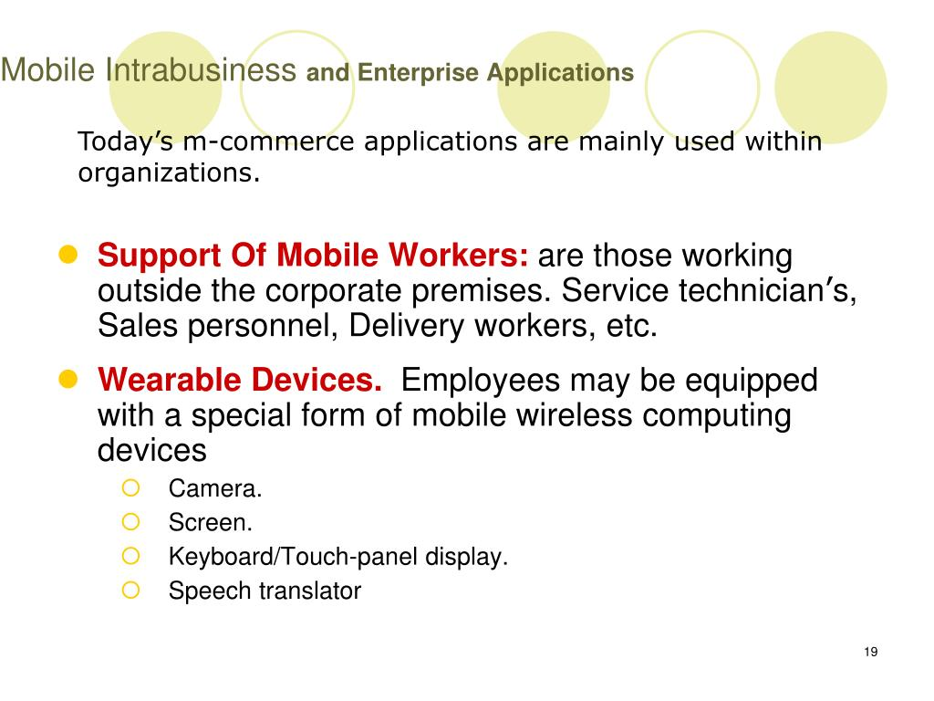 Mobile Intrabusiness