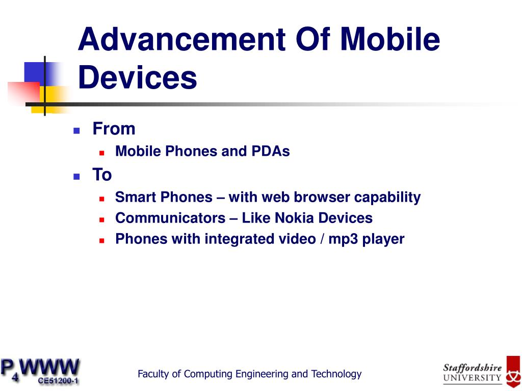 Advancement Of Mobile Devices