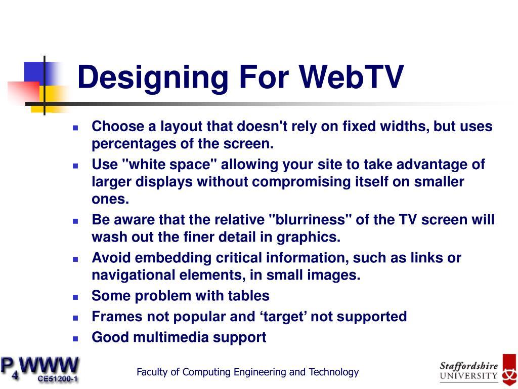 Designing For WebTV