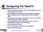 designing for webtv11