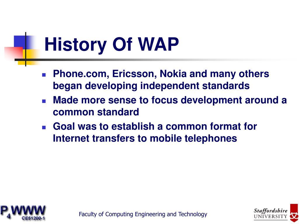 History Of WAP