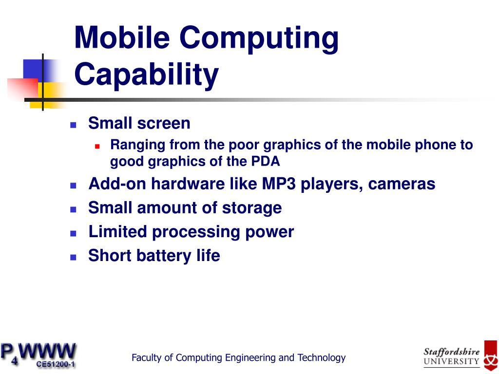 Mobile Computing Capability