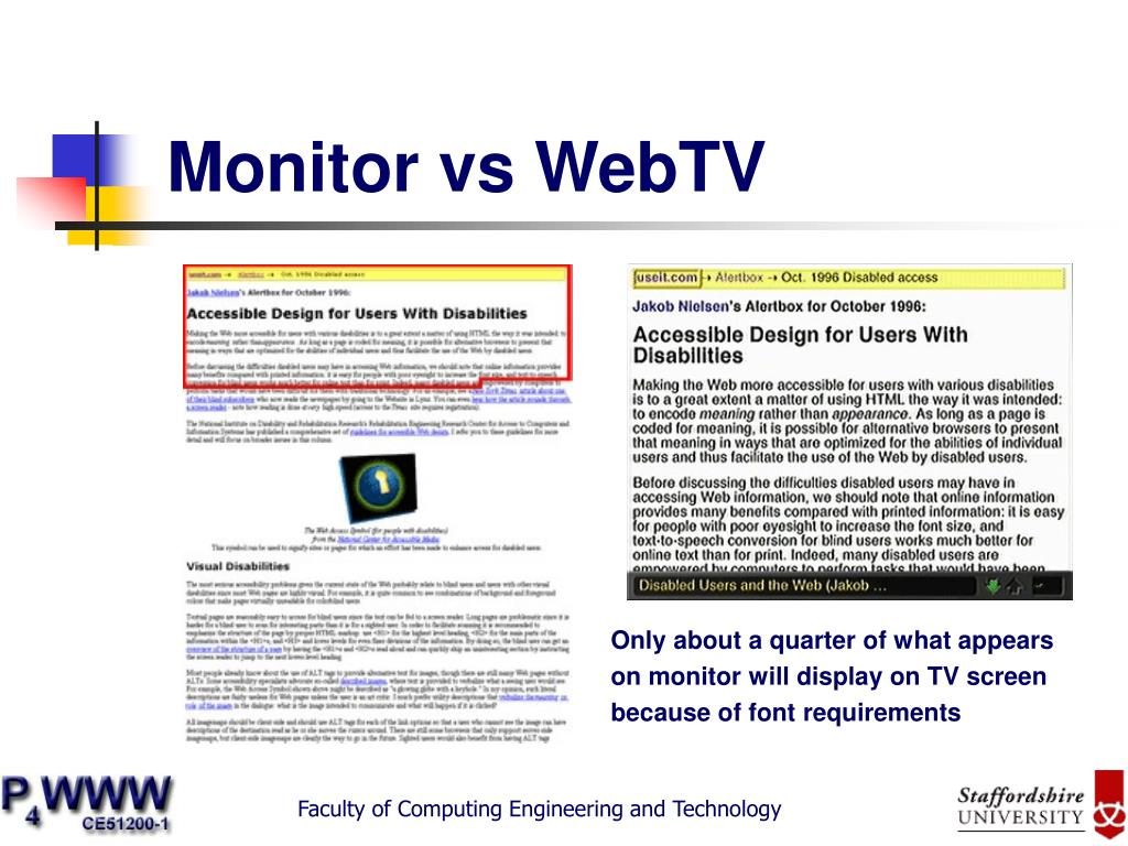 Monitor vs WebTV