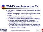 webtv and interactive tv
