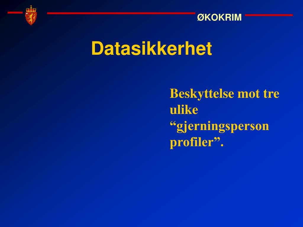 Datasikkerhet