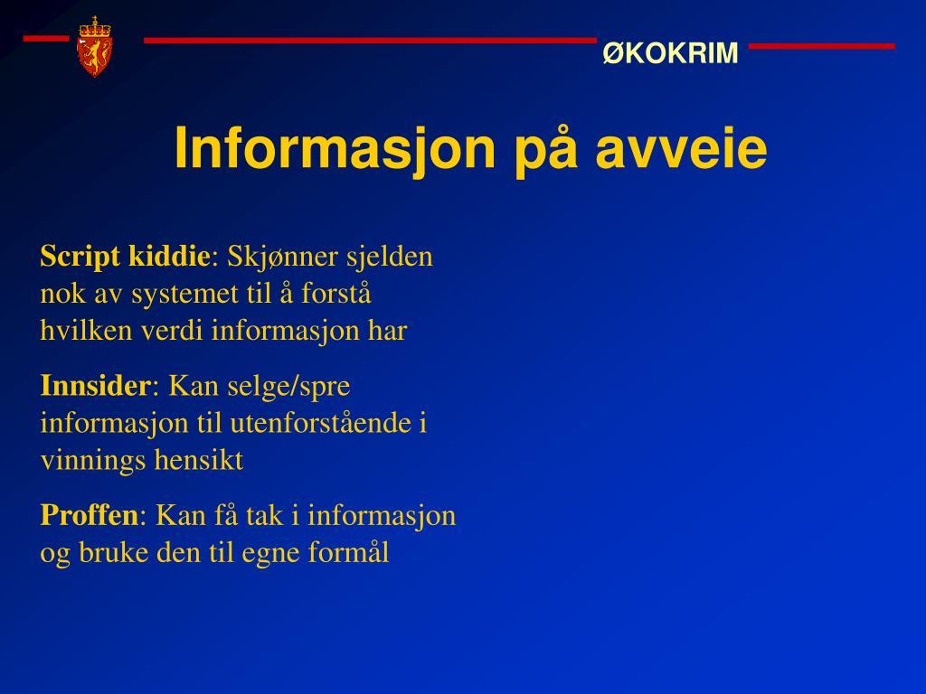 Informasjon på avveie