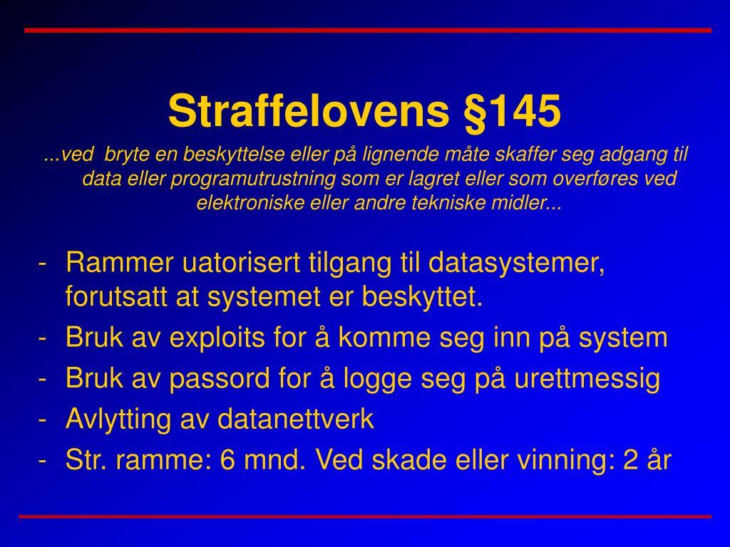 Straffelovens §145