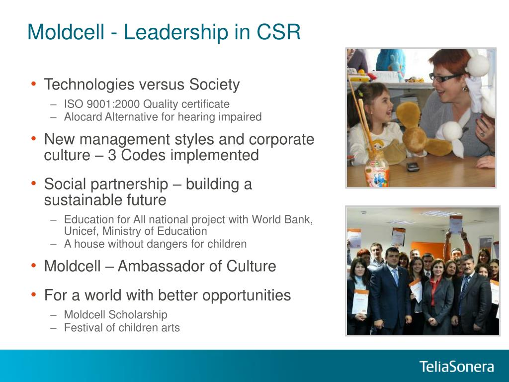 Moldcell - Leadership in CSR