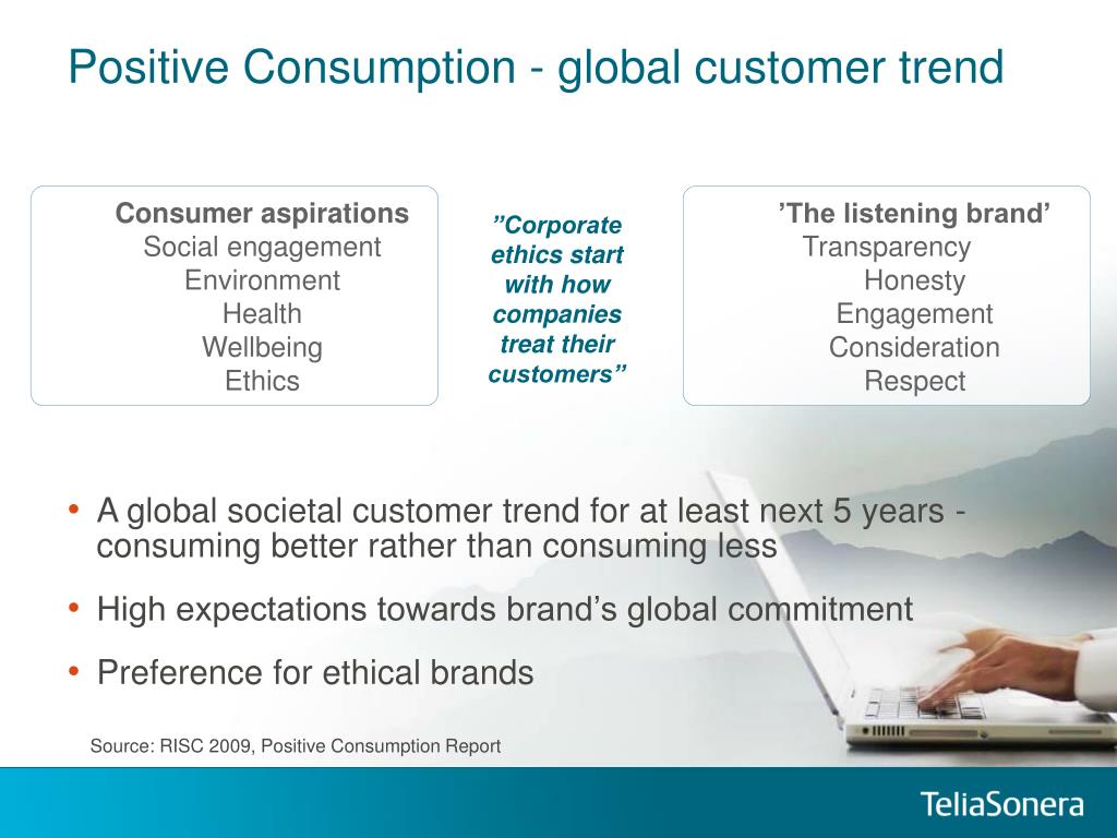 Positive Consumption - global customer trend