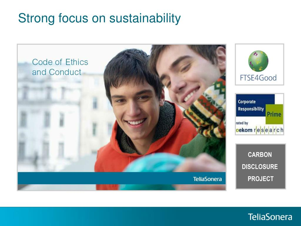 Strong focus on sustainability