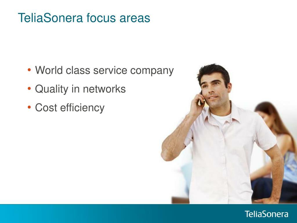 TeliaSonera focus areas