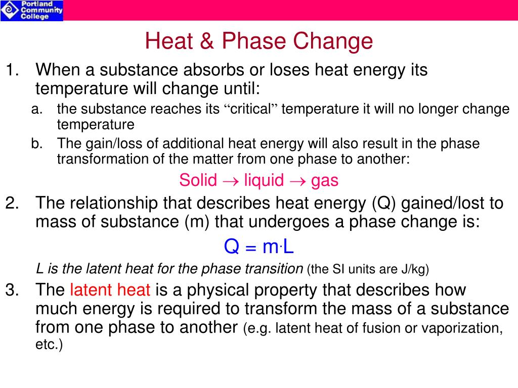 Heat & Phase Change