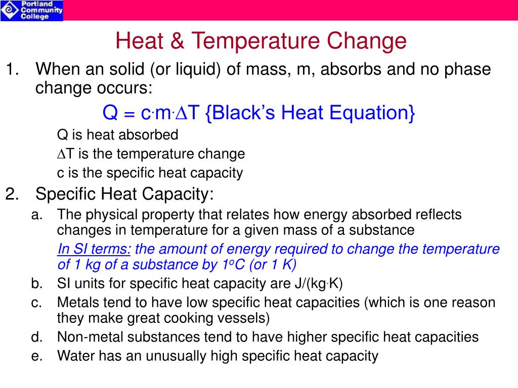 Heat & Temperature Change