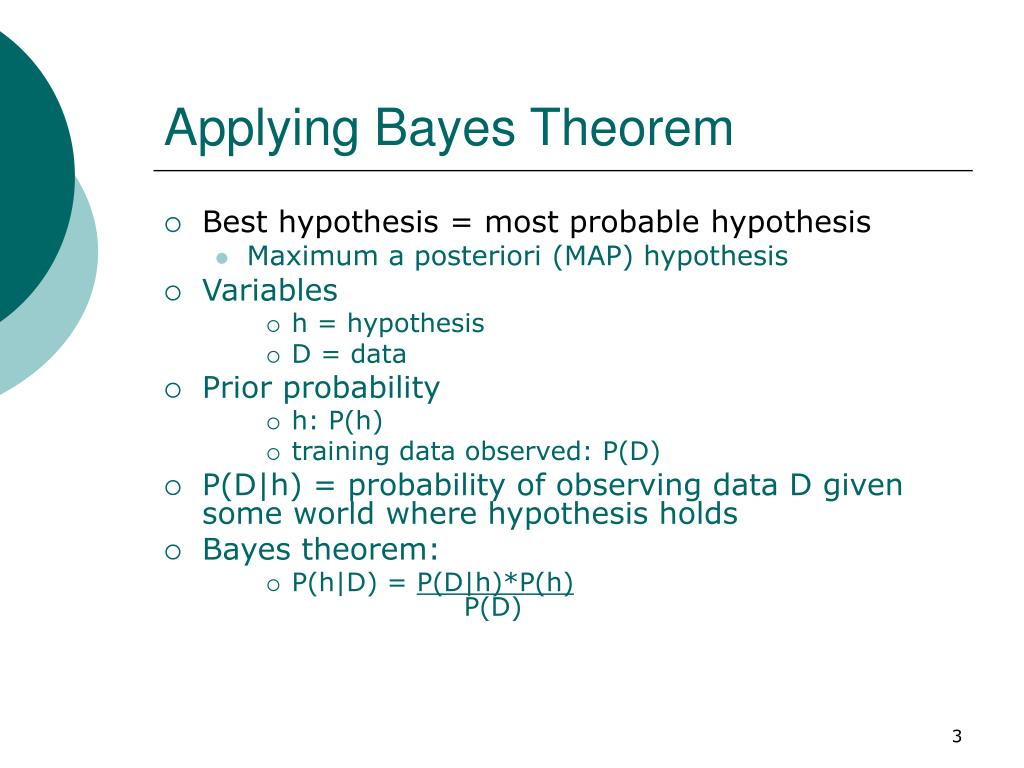 Applying Bayes Theorem