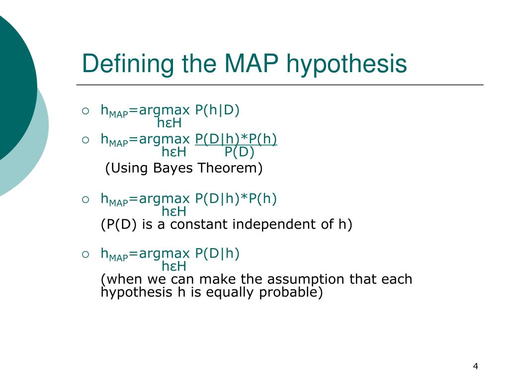 Defining the MAP hypothesis