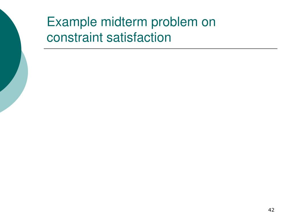 Example midterm problem on constraint satisfaction