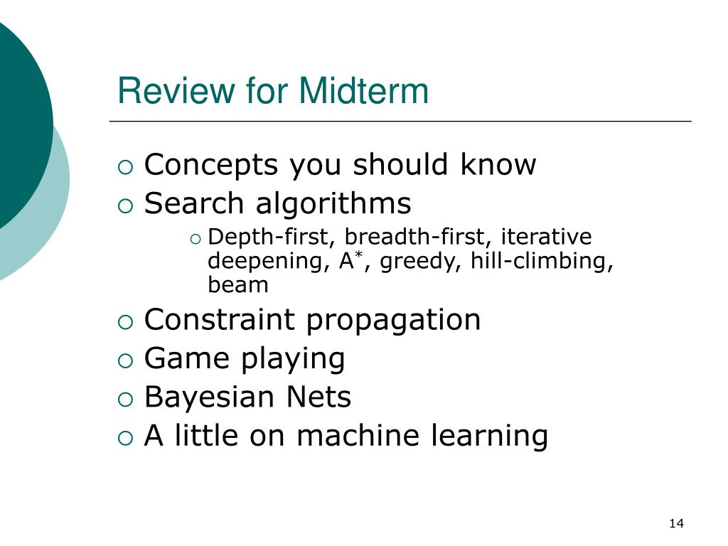 Review for Midterm